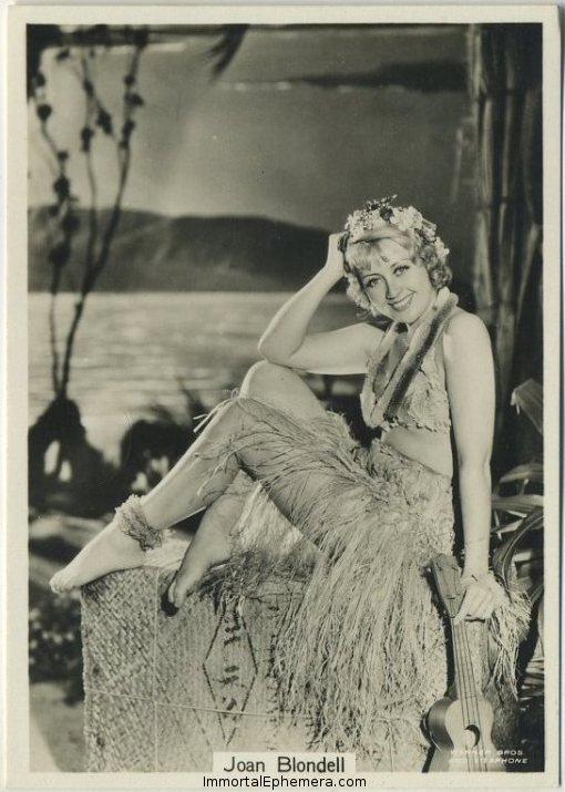 Joan Blondell 1930s Godfrey Phillips Beauties of To-Day Series 7 Tobacco Card