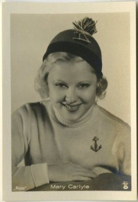 Mary Carlisle 1930s A. Batschari German Tobacco Card
