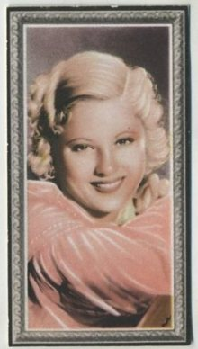 Mary Carlisle 1936 Godfrey Phillips Stars of the Screen Tobacco Card