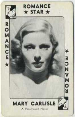 Mary Carlisle 1938 Movie Millions Game Card