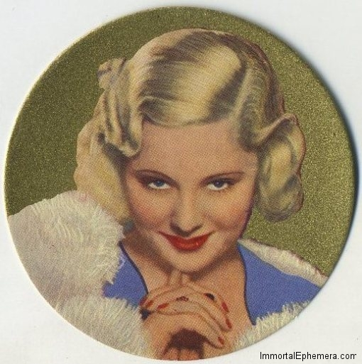 Mary Carlisle 1939 Rothmans Beauties Tobacco Card