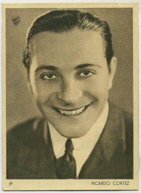 Ricardo Cortez 1930s Aguila Trading Card