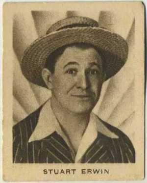 Stuart Erwin 1933 Allens Trading Card