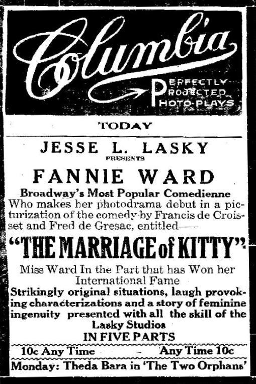 The Marriage of Kitty ad