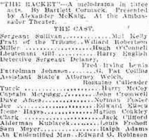The Racket original Broadway cast