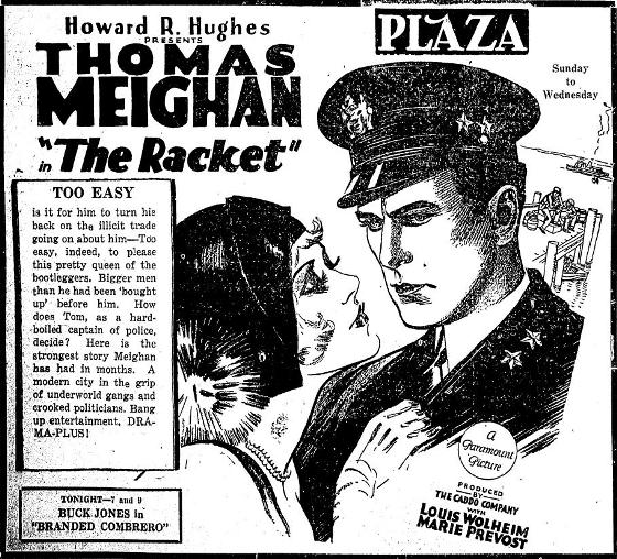 The Racket Newspaper Ad