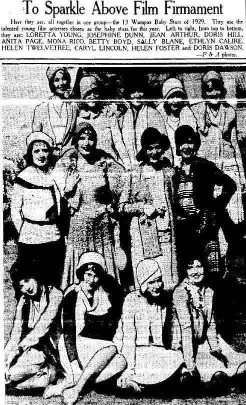 Wampas Baby Stars of 1929