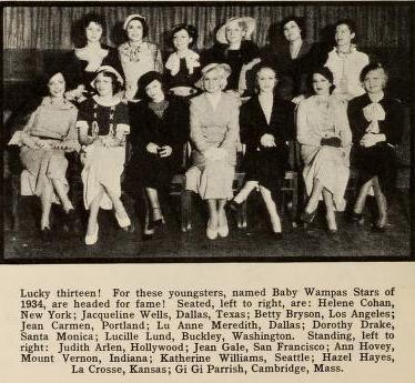 Wampas Baby Stars of 1934