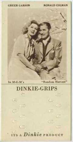 Greer Garson and Ronald Colman 1948 Dinkie Grips Movie Trading Card