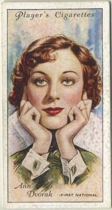 Ann Dvorak 1934 Player Series 2 Tobacco Card