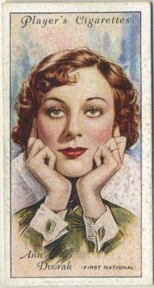 Ann Dvorak 1934 Player Series 2 Tobacco Card