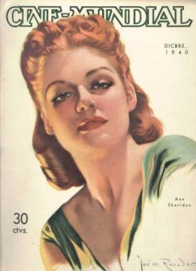 Ann Sheridan cover of Cinemundial Magazine December 1940