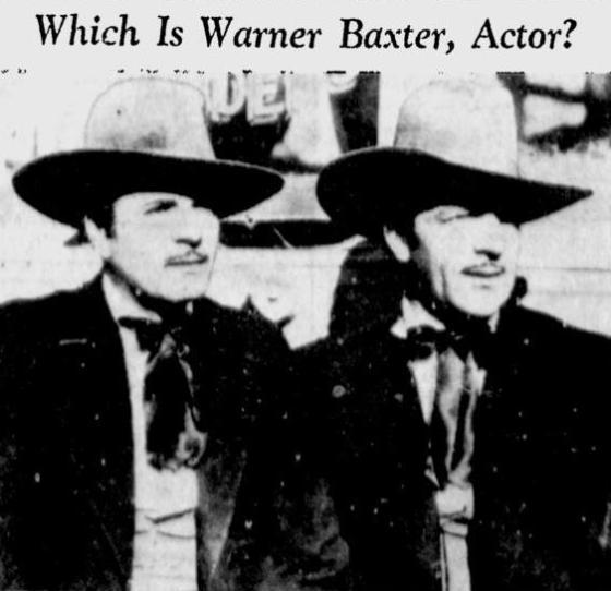 Warner Baxter and Frank McGrath