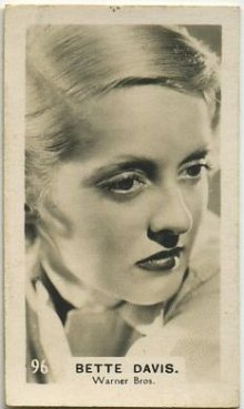 Bette Davis 1934 Bridgewater Trading Card