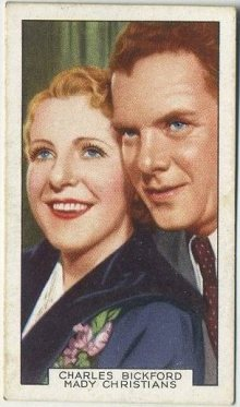 Charles Bickford and Mady Christians 1935 Gallaher Film Partners Tobacco Card