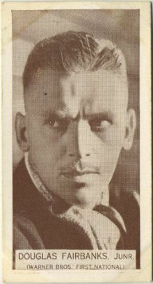 Douglas Fairbanks Jr 1934 Wills Famous Film Stars Tobacco Card