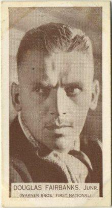 Douglas Fairbanks Jr 1934 Wills Famous Film Stars Tobacco Card