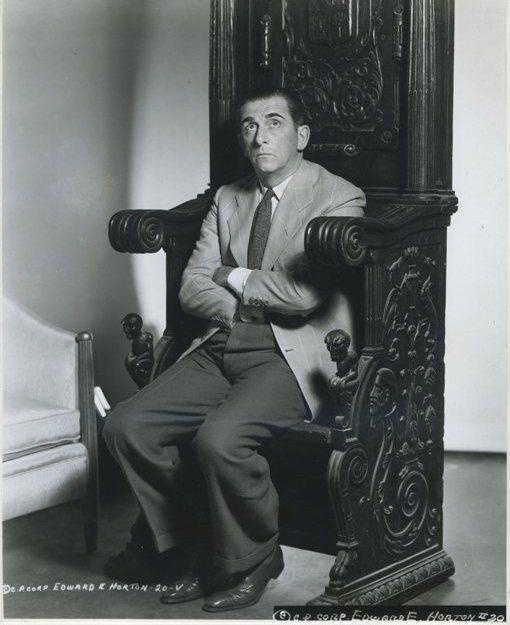 Edward Everett Horton 1930s era Columbia Promotional Still Photo