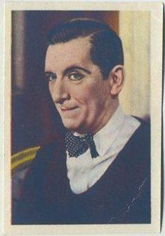 Edward Everett Horton 1936 Nestle Trading Card