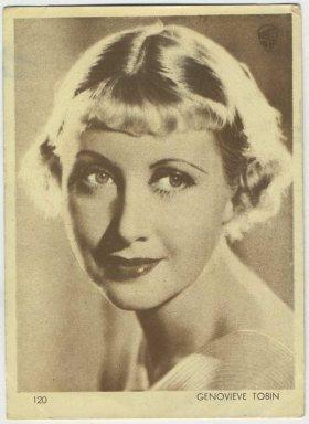 Genevieve Tobin 1930s Aguila Trading Card
