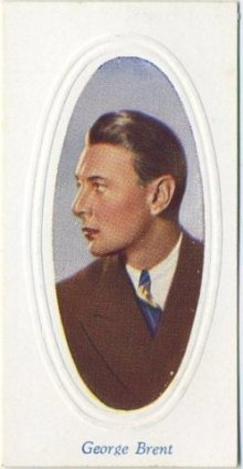 George Brent 1936 Godfrey Phillips Screen Stars Tobacco Card