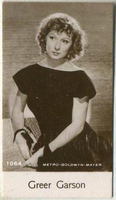 Greer Garson 1940 De Buekelaer Trading Card