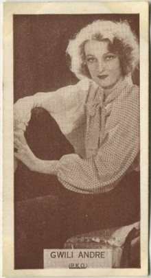 Gwili Andre 1934 Wills Famous Film Stars Tobacco Card