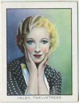 Helen Twelvetrees 1933 BAT Tobacco Card
