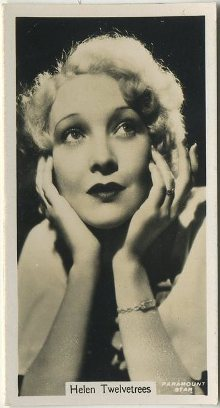 Helen Twelvetrees 1934 John Sinclair Tobacco Card