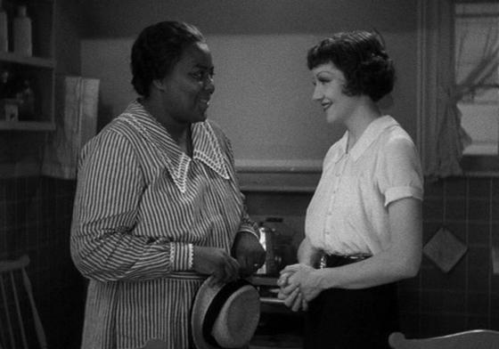 Louise Beavers and Claudette Colbert