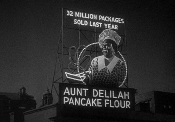 Aunt Delilah pancake billboard from Imitation of Life
