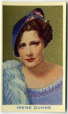 Irene Dunne 1939 Rothmans Beauties of the Cinema Tobacco Card