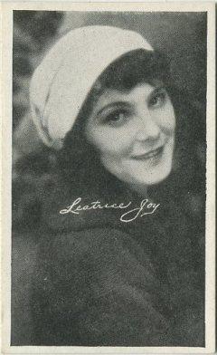 Leatrice Joy circa 1917 Kromo Gravure Trading Card