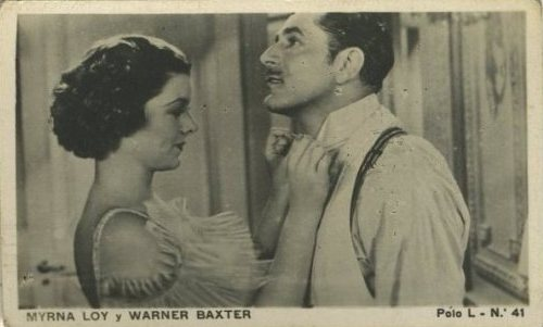 Myrna Loy and Warner Baxter 1938 Polo L Tobacco Card from Chile