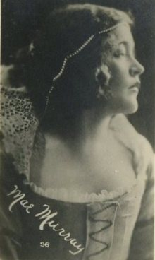 Mae Murray 1910s Kinema Theater Advertising Card