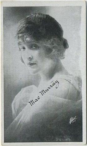 Mae Murray circa 1917 Kromo Gravure Trading Card