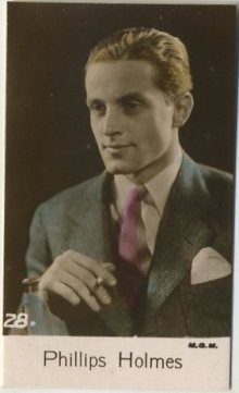 Phillips Holmes 1935 Bridgewater Trading Card
