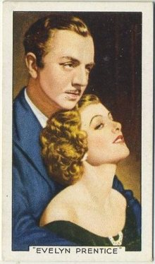 William Powell and Myrna Loy 1935 Gallaher Famous Film Scenes Tobacco Card