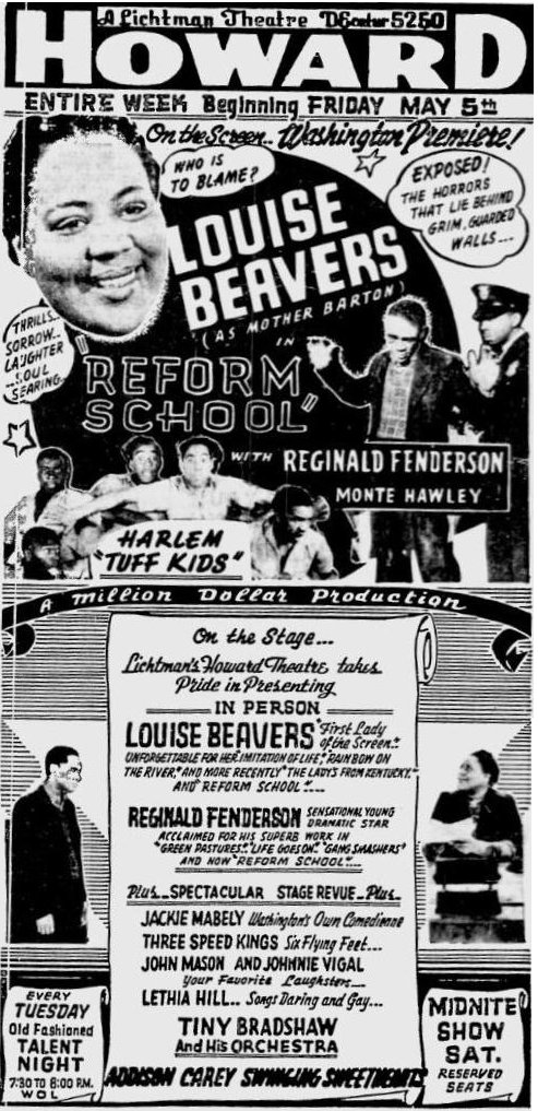 Reform School ad featuring Louise Beavers