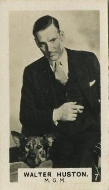 Walter Huston 1934 Bridgewater Trading Card