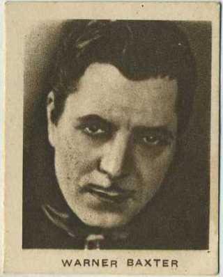 Warner Baxter 1933 Allens Trading Card