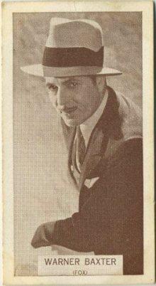 Warner Baxter 1934 Wills Famous Film Stars tobacco card