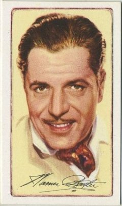 Warner Baxter 1935 Gallaher Tobacco Card