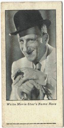 Jimmy Durante 1934 Cracker Jack Trading Card