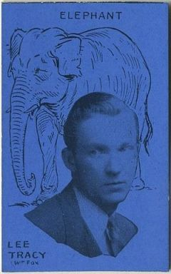 Lee Tracy Film Stars and Animals Strip Card