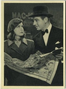 Greta Garbo and Melvyn Douglas 1940 A and M Wix Max Brand Tobacco Card