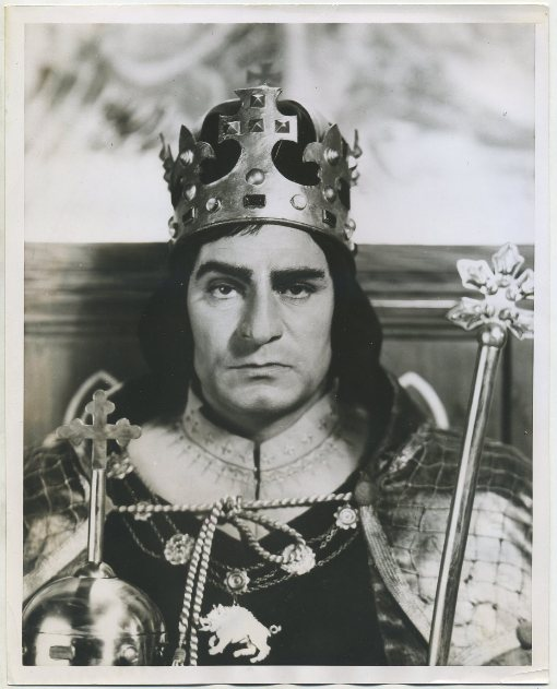 1955 Press Photo picturing Laurence Olivier as Richard III