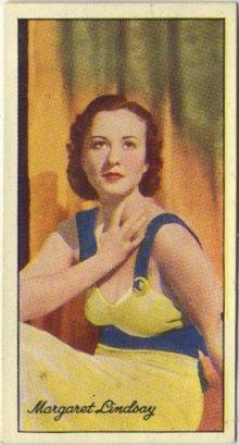 Margaret Lindsay 1935 Carreras Famous Film Stars Tobacco Card