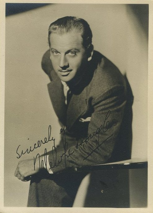 Melvyn Douglas 1930s 5x7 Fan Photo