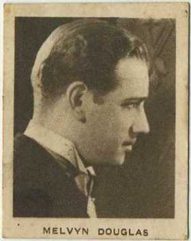 Melvyn Douglas 1933 Allens Trading Card